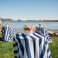 Chair Covers Rental Scarborough For Lazy Boy Recliners One Stop Event Rentals South Portland Me Sail Cloth Beauty Navy White Stripe Linen