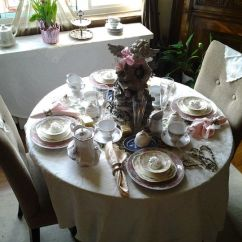 Chair Cover Rentals Washington Dc Outside Patio Chairs Vintage Glam Tea Party Co Event Table Setting For 2 With Angel Center Piece