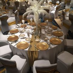 Chair Cover Alternatives Wedding High Back Outdoor Cushions Australia Crowne Plaza Springfield Venue Il Weddingwire Reception Setup Table Setting And Raised Centerpiece