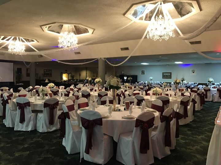 burgundy chair covers wedding x rocker gaming power cable sittin pretty llc event rentals sandusky oh wine sash