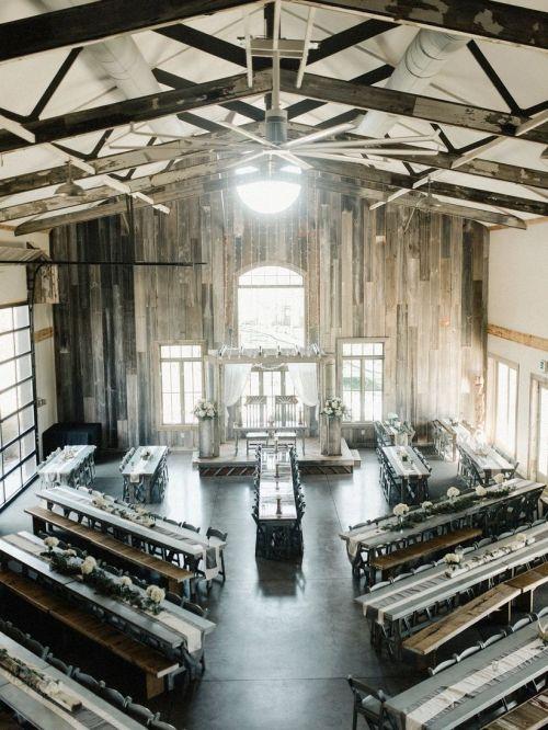 small resolution of modern barn wedding reception
