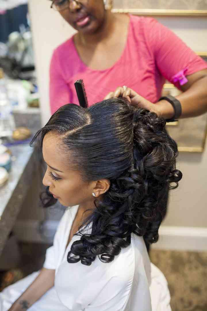 26 Modern Hairstyles For Black Brides Weddingwire