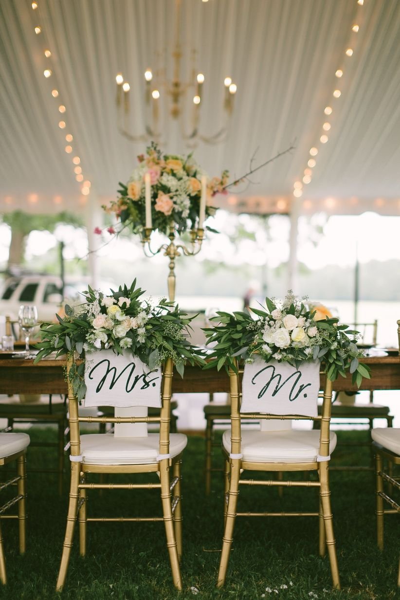 wedding decorations chairs receptions eames wire chair 13 types of for a stylish big day weddingwire chiavari with signage