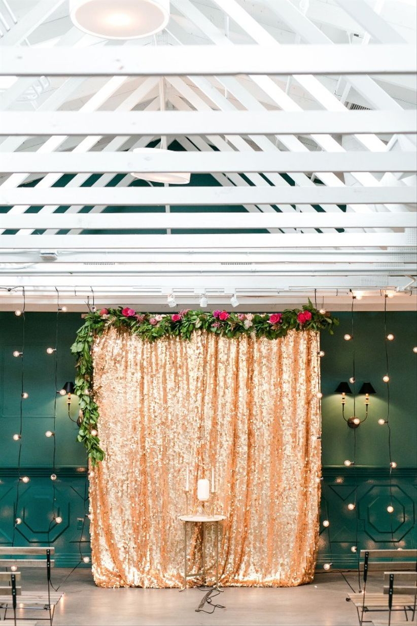 these indoor ceremony backdrops