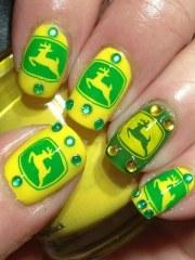 super fun country style nail design