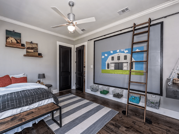 kitchen barn doors modern appliances you can now rent the 'fixer upper' bardominium