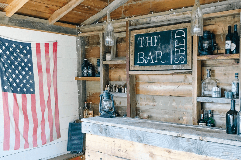 Forget Man Caves Backyard Bar Sheds Are The New Trend