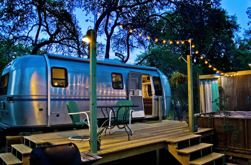 This Retro Airbnb Airstream Rental in Wimberley is Full of