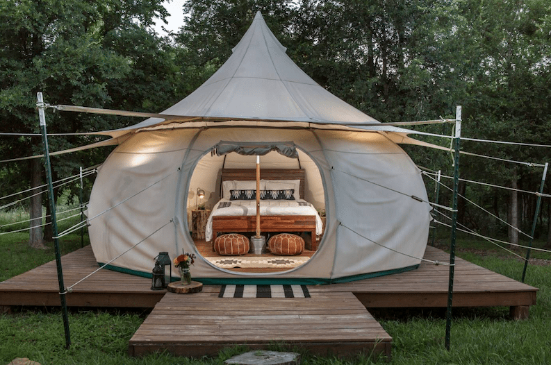 Spend the Night in This Cozy and Secluded Texas Yurt