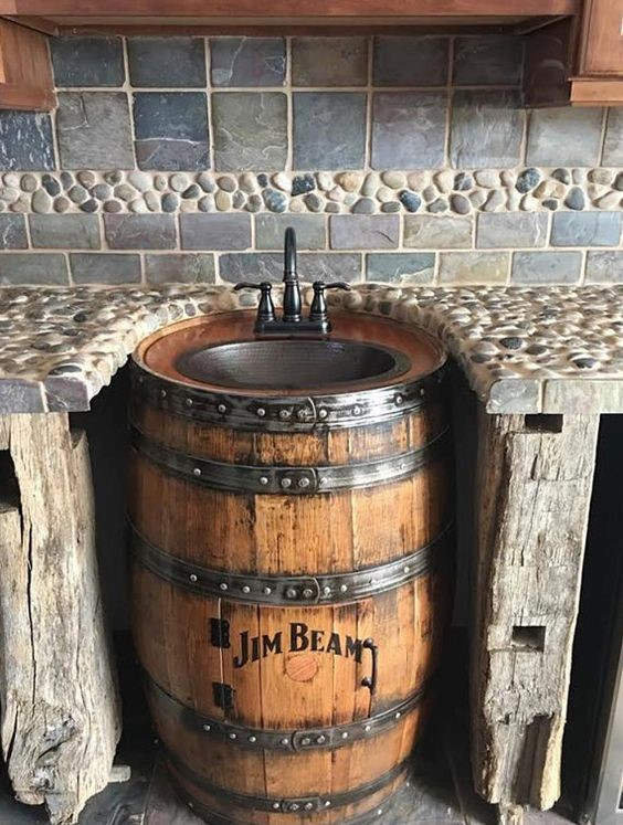 no touch kitchen faucet floor runner 10 creative ways to transform whiskey barrels into rustic ...