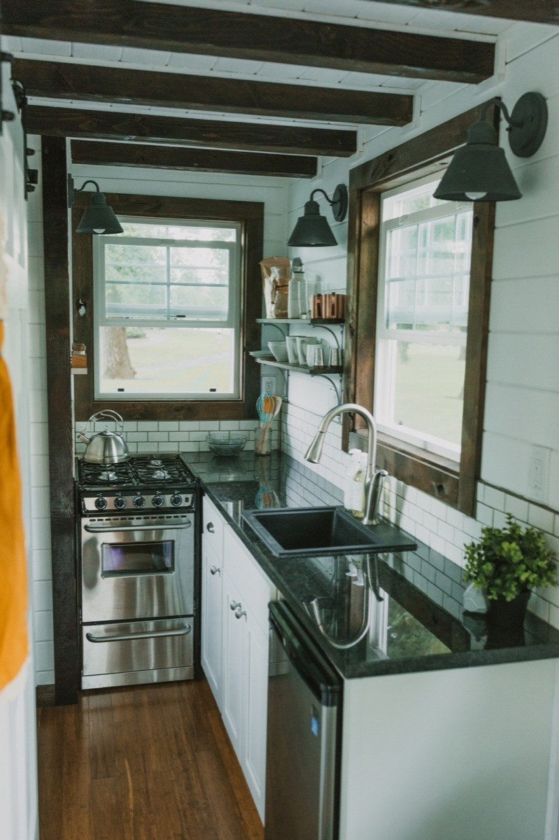 tiny house kitchens kitchen rules sign 10 in houses that are adorably functional