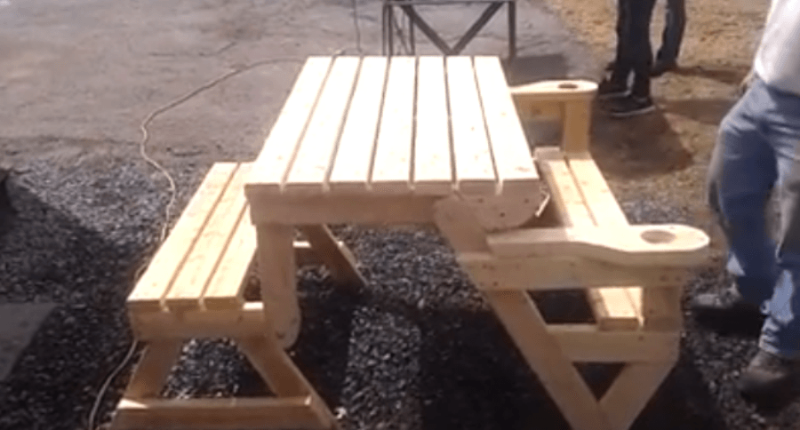 This Folding Picnic Table Is The Next Great Thing For That