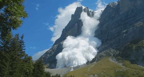 Image result for images of avalanche in the alps