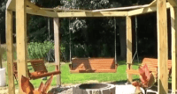 Looking for a Backyard Project? These Fire Pit Swings Are ...