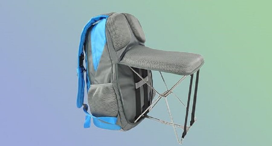 fishing backpack chair counter height dining chairs with arms this foldable might be the coolest invention ever