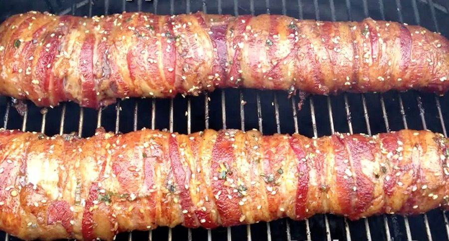 Venison Tenderloin Wrapped Roast Bacon