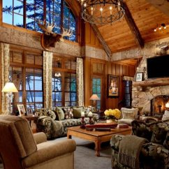 Living Room Ideas With Dark Leather Couches Curtains And Pillows For 6 Luxury Hunting Lodges Everyone Would Like To Visit-wide ...