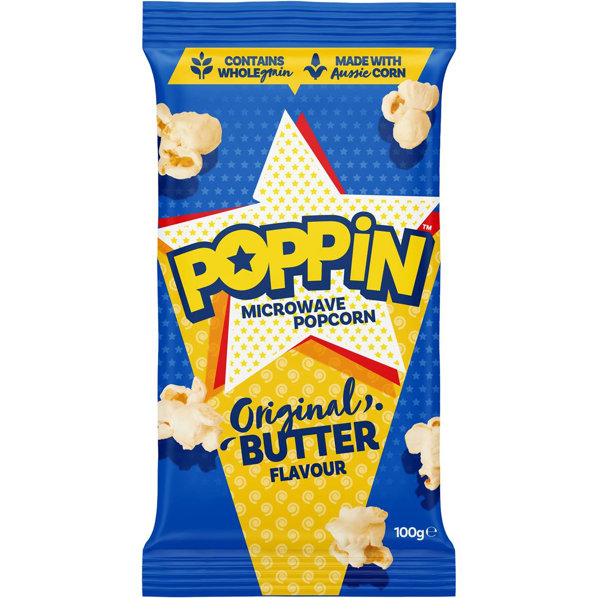 poppin microwave popcorn butter flavour