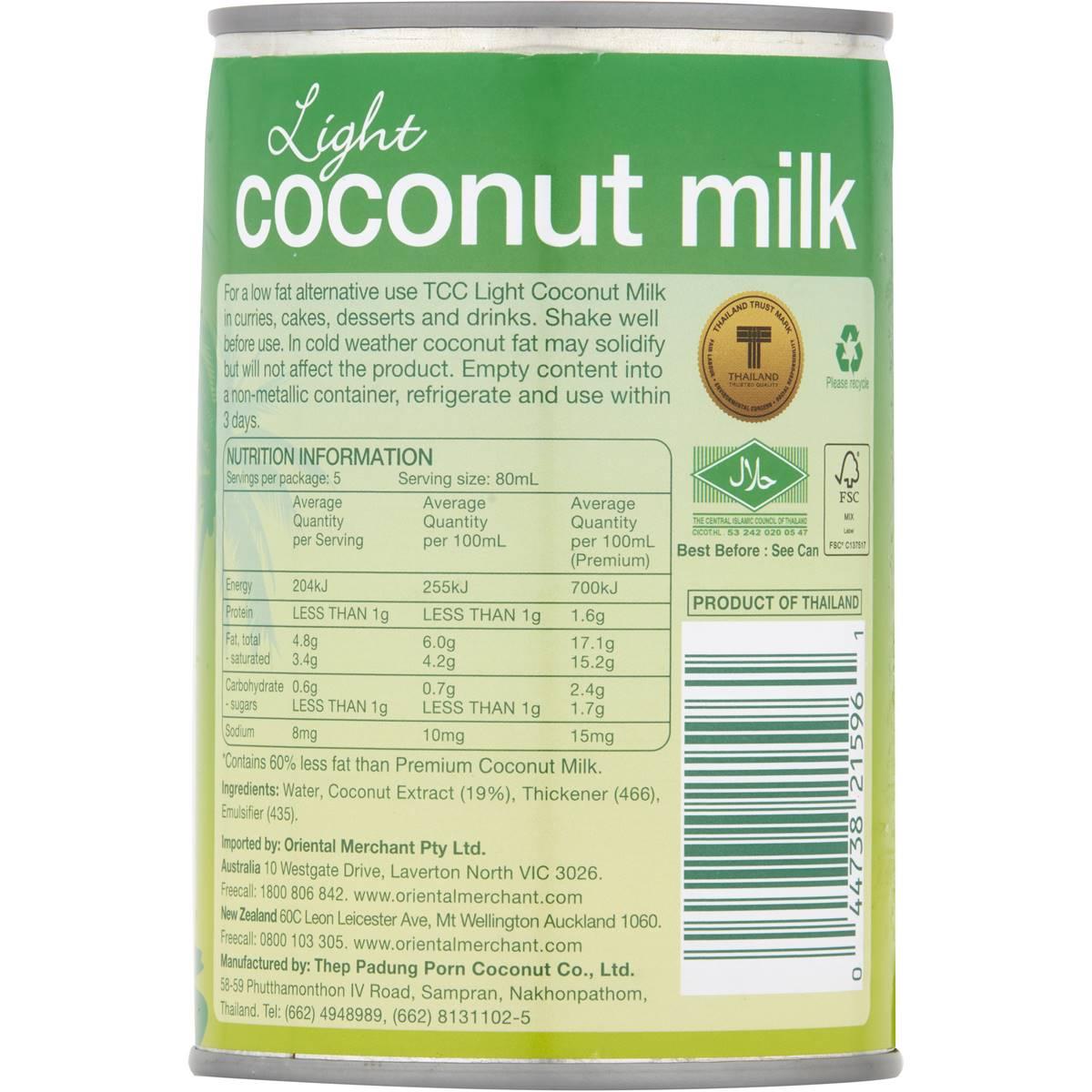 thai kitchen organic coconut milk ceiling fan light nutrition 28 images