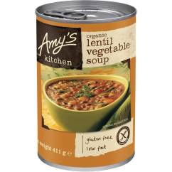 Amy's Kitchen Soup Cheap White Cabinets 3x Amys Canned Organic Lentil Vegetable 411g Product Details Amy S Original