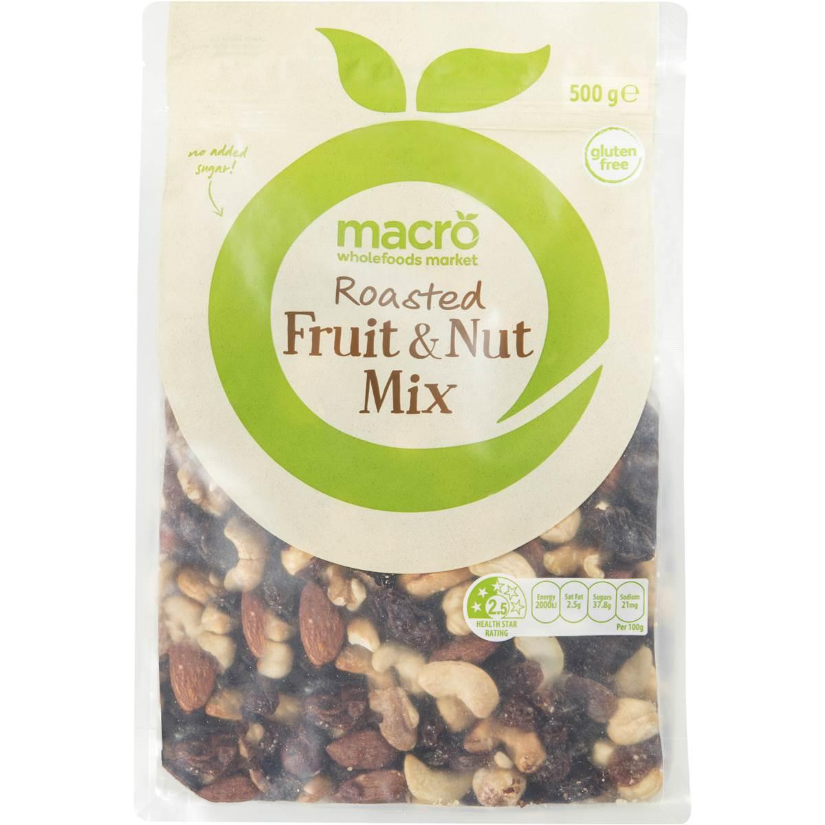 Macro Nuts Fruit & Nut Roasted 500g | Woolworths