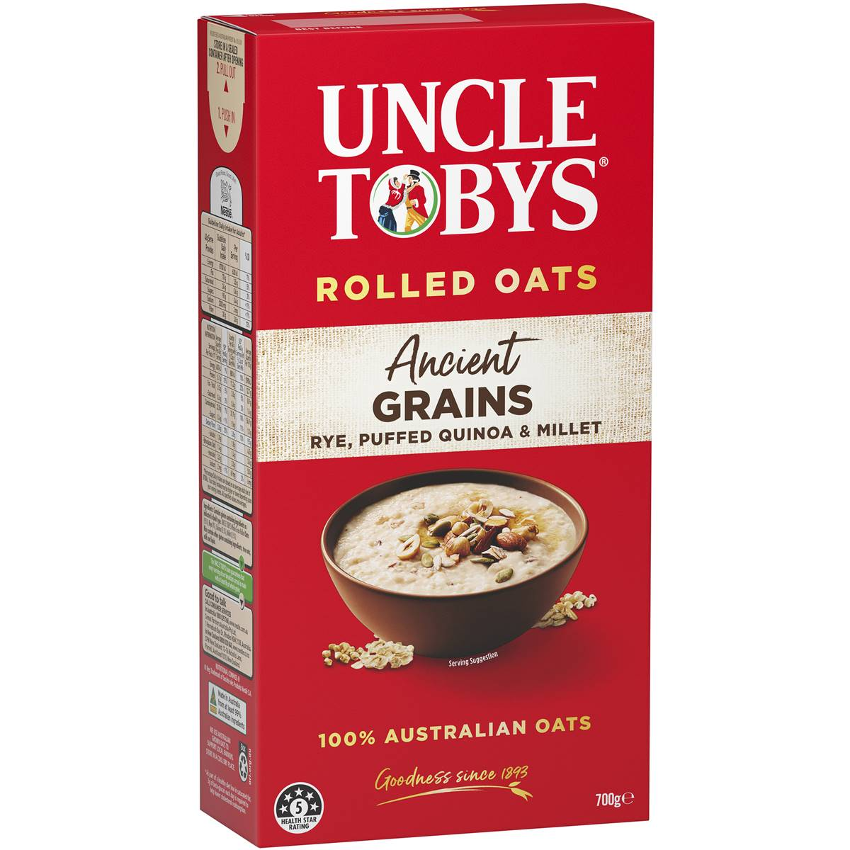 hight resolution of uncle tobys ancient grains oats image
