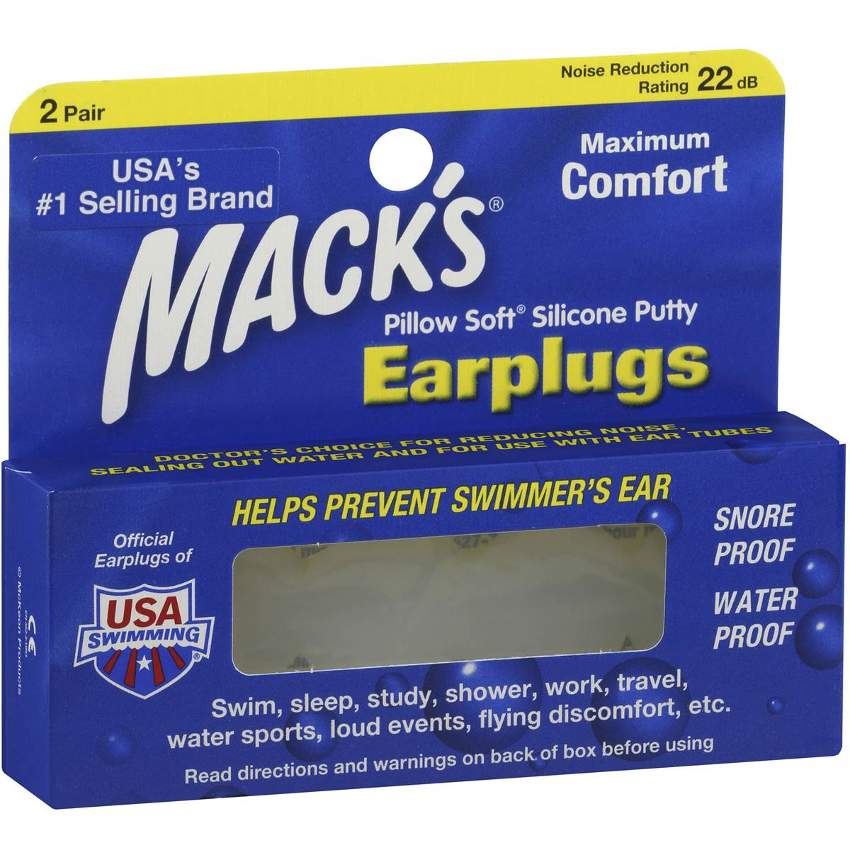 mack s ear plugs silicon pillow soft