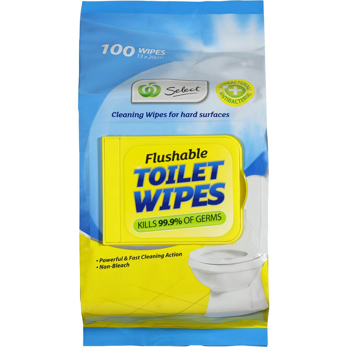 Woolworths Select Toilet Cleaner Flushable Wipes 100pk