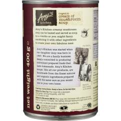Amy's Kitchen Soup Microwave Cart Amys Canned Organic Cream Of Mushroom 400g