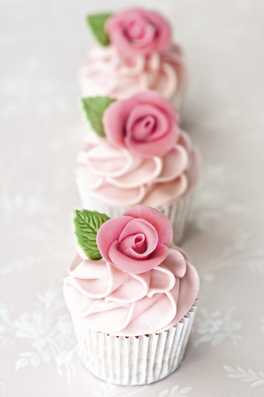 Almond Rose Water Cupcakes