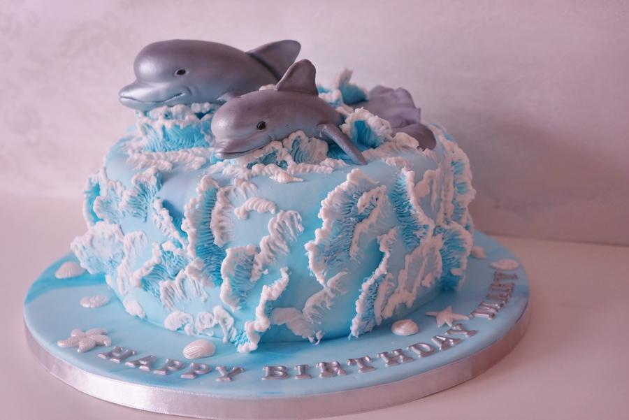 Waves Cake Tutorial  CakeCentralcom