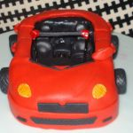 3d Red Convertible Car Cake Cakecentral Com