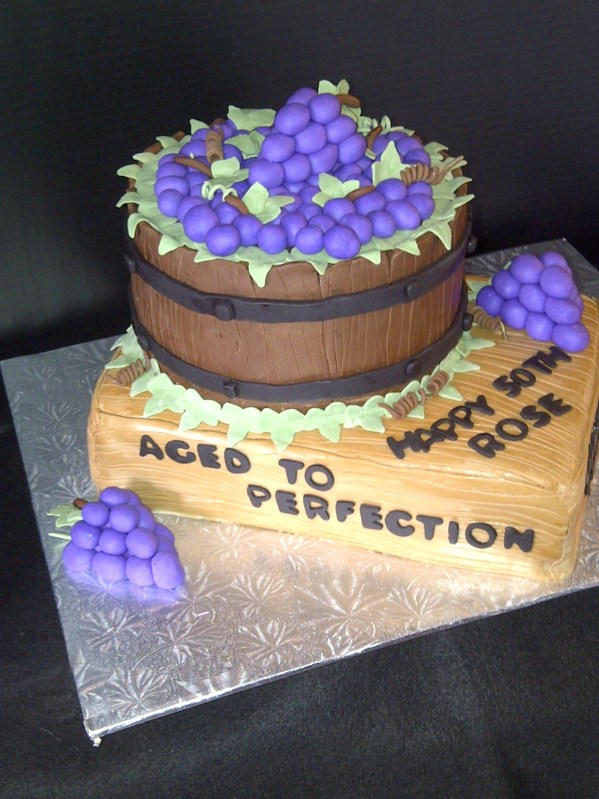 Wine Theme Cake Fondant Grapes Vtwctr