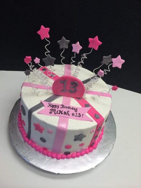13th Birthday Cake With Stars