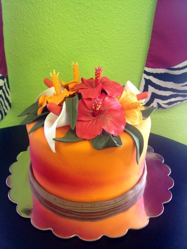 Hawaiian Sunset Birthday Cake