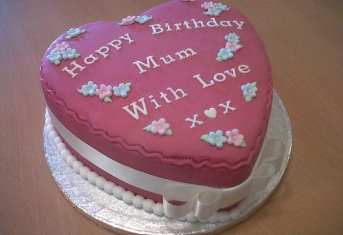 Mum Heart Birthday Cake Cakecentralcom