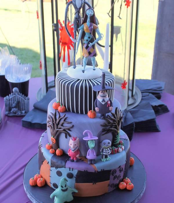 Astonishing Nightmare Before Christmas Birthday Cake Decorations The Cake Funny Birthday Cards Online Elaedamsfinfo