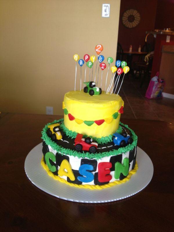 Little Boy Car Birthday Cake