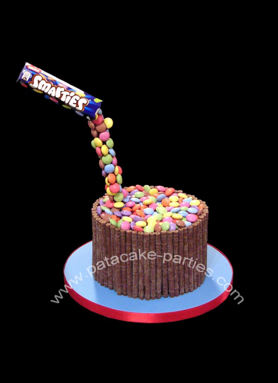 Anti Gravity Smarties Cake Cakecentral Com