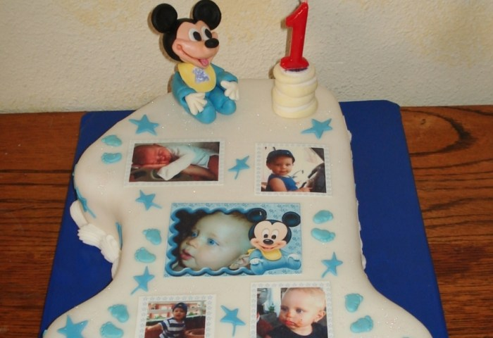 Baby Mickey First Birthday Cake Cakecentralcom