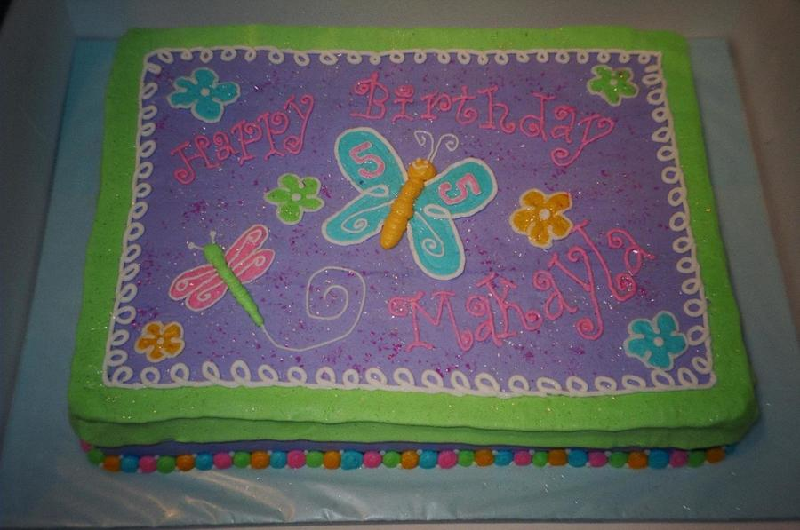 My Daughters 5th Birthday The Sheet Cake Was Decorated To