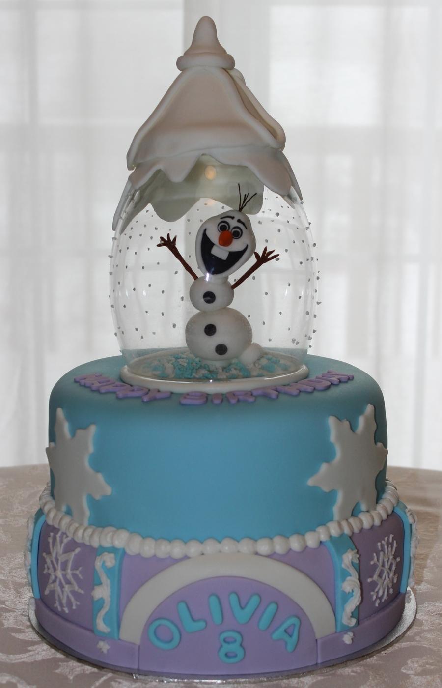 Olaf Snow Globe Cake Cakecentral Com