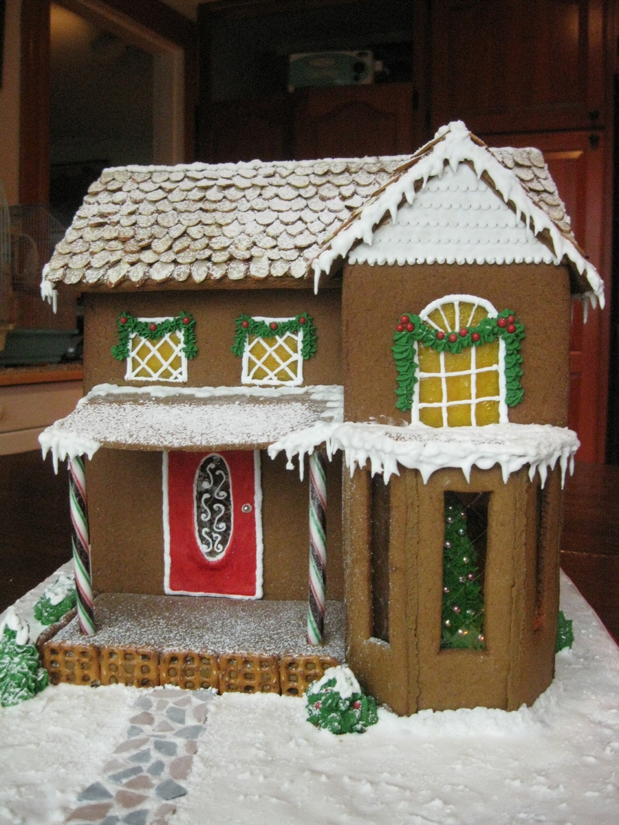Old New England Gingerbread House  CakeCentralcom
