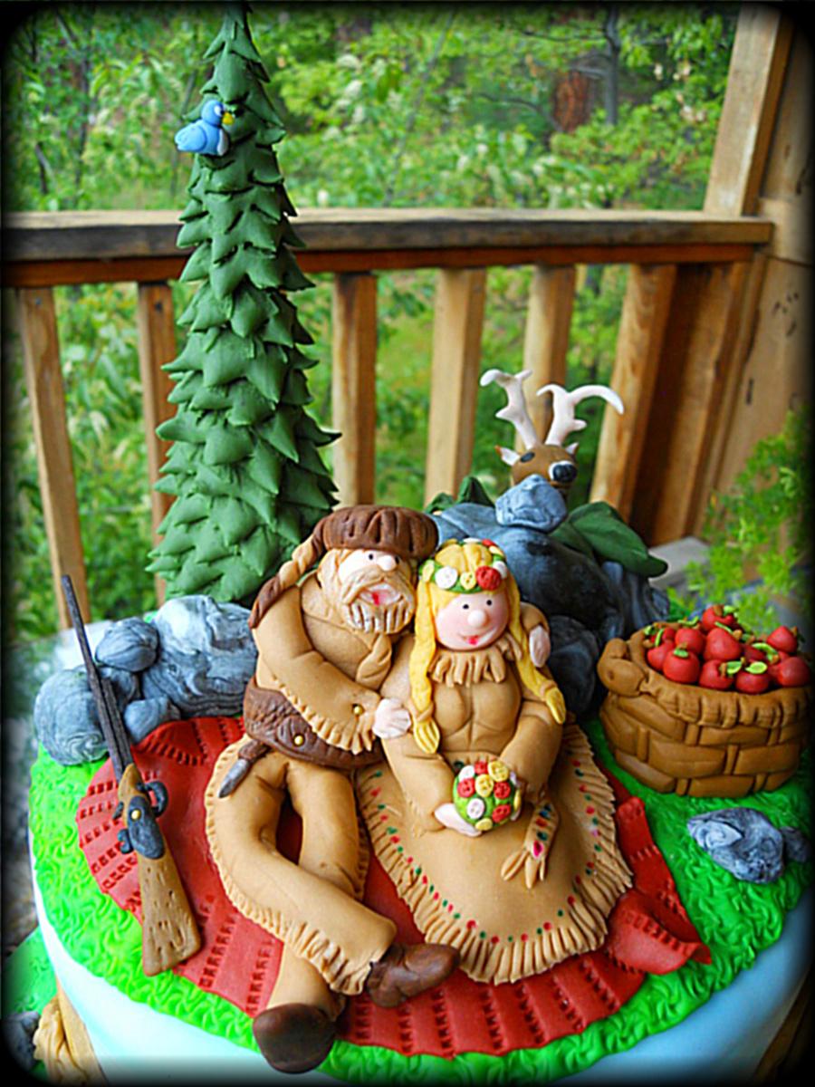 Mountain Man Theme Wedding Cake  CakeCentralcom