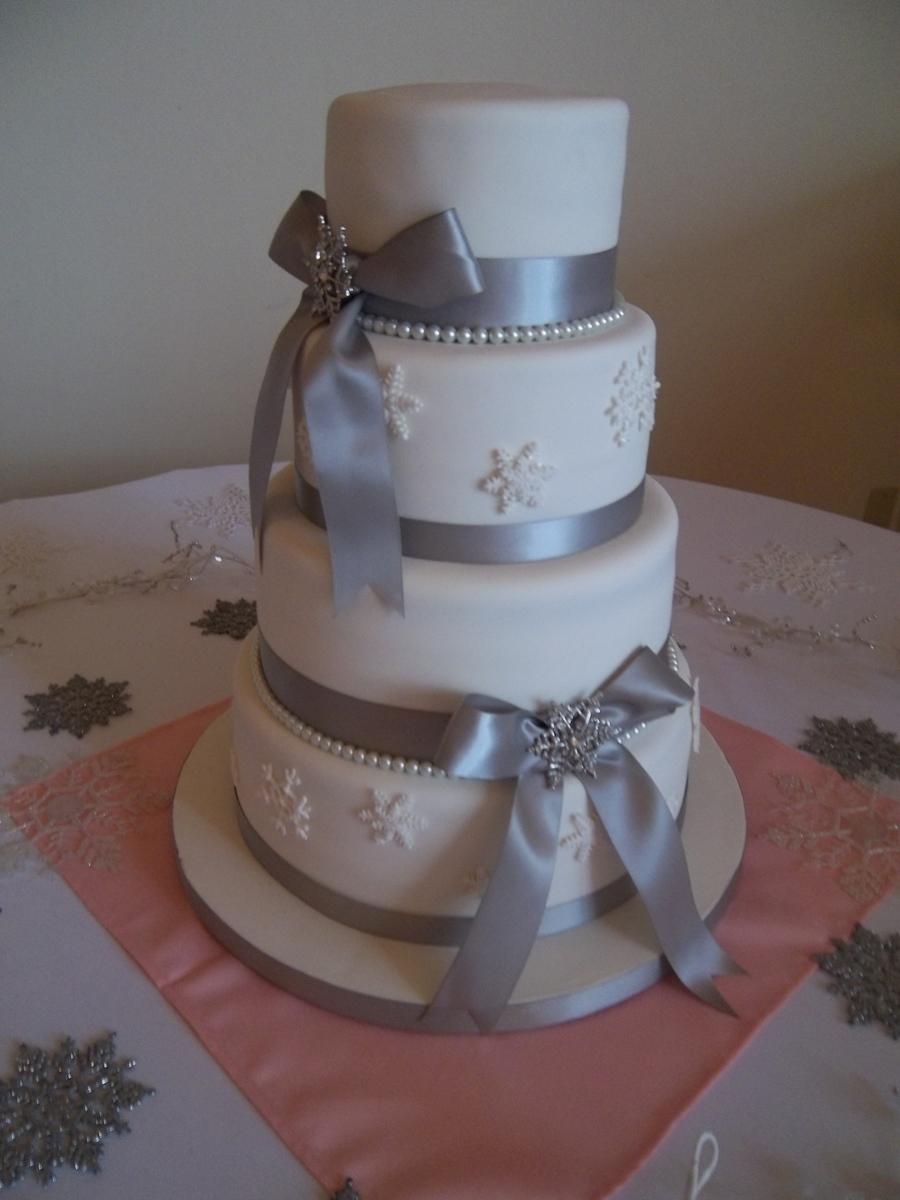 Snowflake Wedding Cake  CakeCentralcom