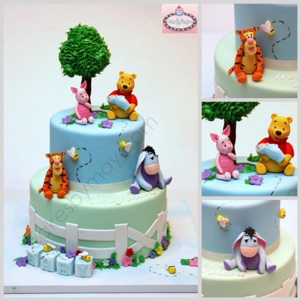 Winnie Pooh And Friends Baby Shower Cake
