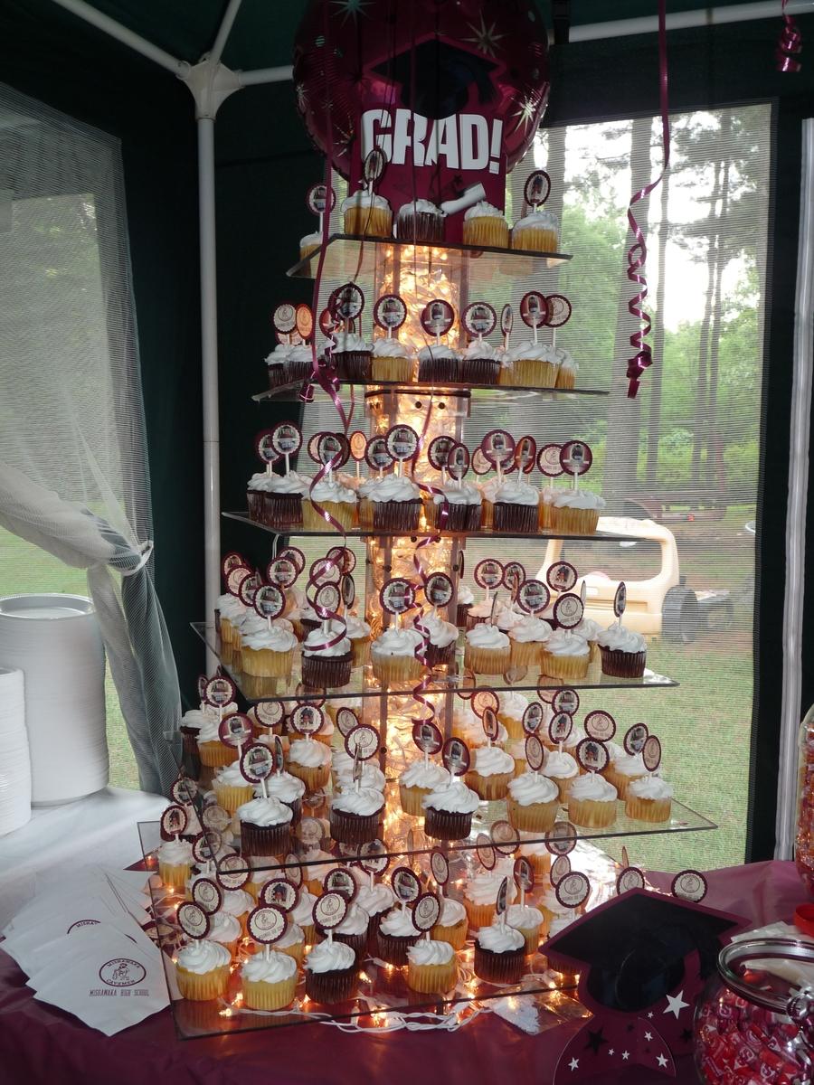 My Sons Graduation Cupcake Tower