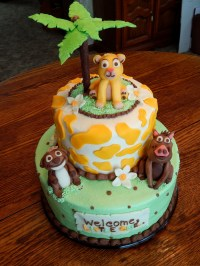 Lion King Baby Shower Cake - CakeCentral.com
