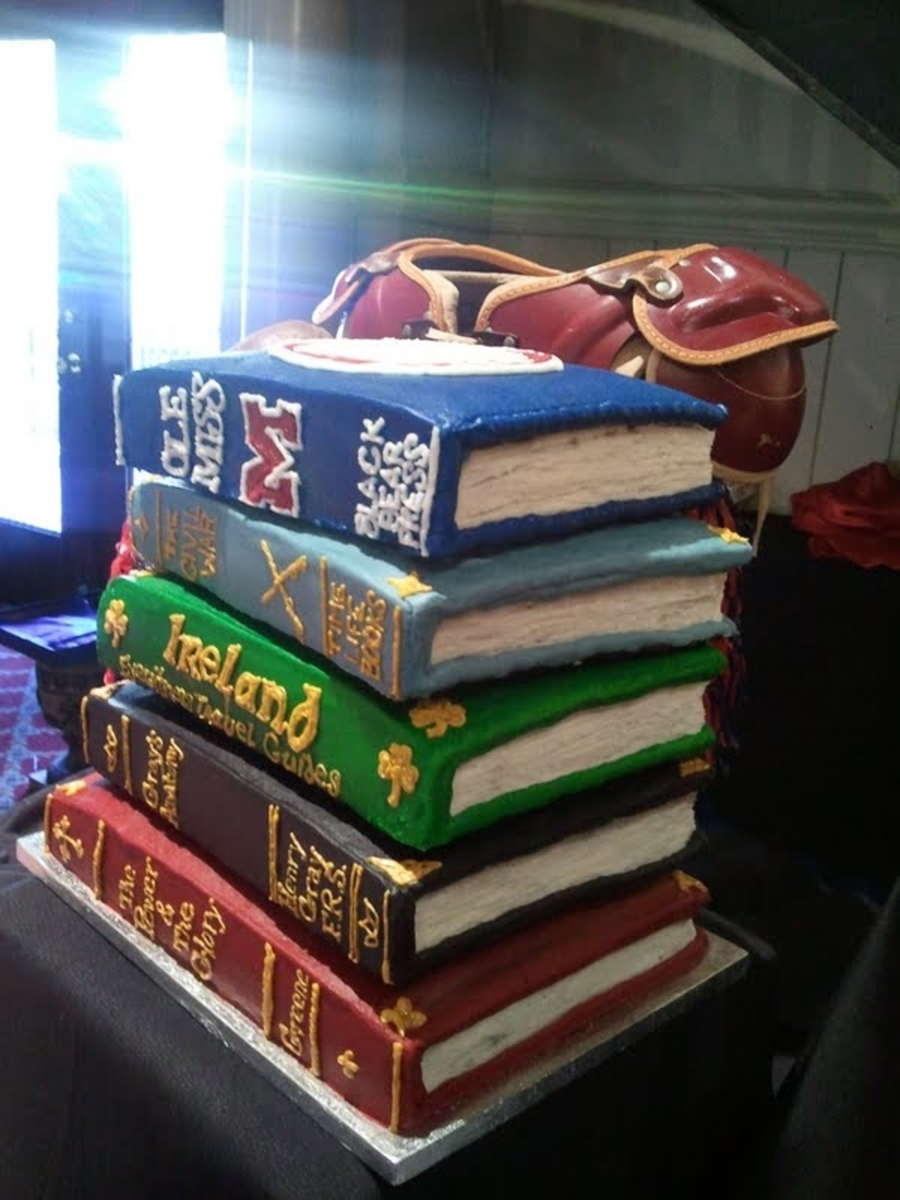 Stacked Book Cake Cakecentral Com