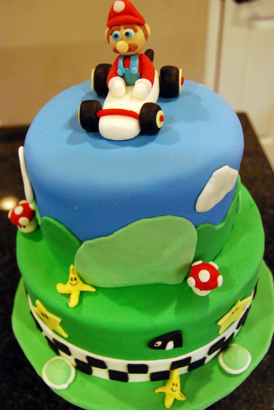 Mario Kart Cake Cakecentral Com